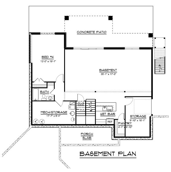 Craftsman Floor Plan - Other Floor Plan Plan #1064-17