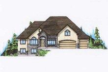 Home Plan - European Exterior - Front Elevation Plan #5-376