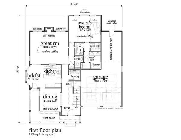 Traditional Floor Plan - Main Floor Plan #459-4