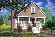 Cottage Style House Plan - 3 Beds 2 Baths 1620 Sq/Ft Plan #30-103 Exterior - Front Elevation