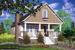 Cottage Exterior - Front Elevation Plan #30-103