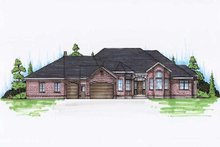 Dream House Plan - Traditional Exterior - Front Elevation Plan #5-310