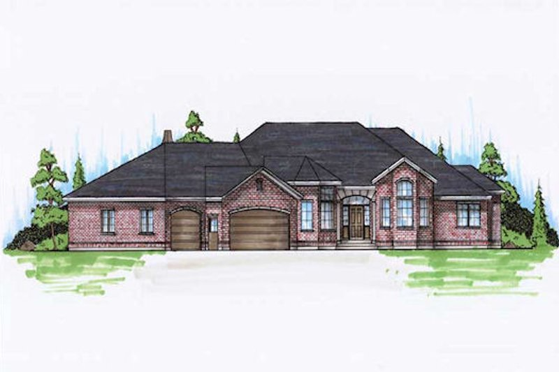 Traditional Style House Plan - 6 Beds 4.5 Baths 2624 Sq/Ft Plan #5-310