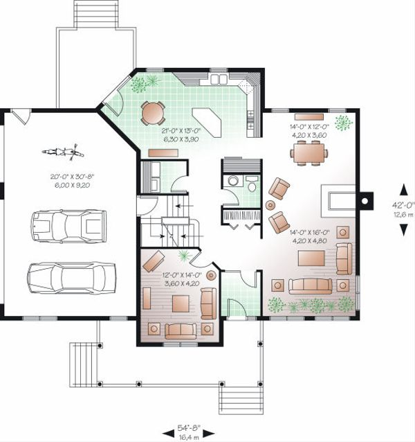 Traditional Floor Plan - Main Floor Plan Plan #23-841