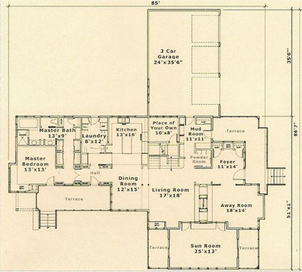 Prairie Floor Plan - Main Floor Plan #454-5