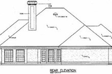 Home Plan Design - Traditional Exterior - Rear Elevation Plan #45-129