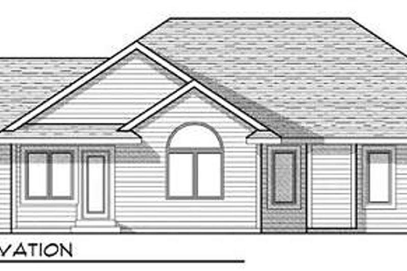 Country Exterior - Rear Elevation Plan #70-930 - Houseplans.com