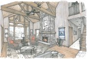 Country Style House Plan - 3 Beds 3 Baths 3163 Sq/Ft Plan #509-51 Photo