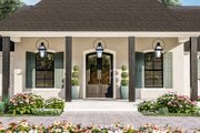 Traditional Style House Plan - 4 Beds 3 Baths 3507 Sq/Ft Plan #406-9664 Exterior - Covered Porch
