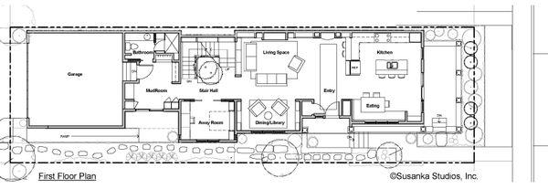 Craftsman Floor Plan - Main Floor Plan Plan #454-12