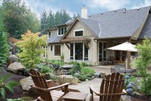 Dream House Plan - Rear Elevation - 2900 square foot Craftsman Home