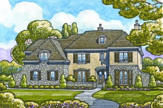 European Exterior - Other Elevation Plan #20-2142 - Houseplans.com