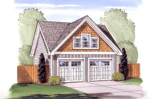 Traditional Exterior - Front Elevation Plan #455-53