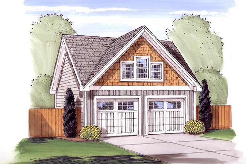 Traditional Style House Plan - 0 Beds 0 Baths 576 Sq/Ft Plan #455-53 Exterior - Front Elevation