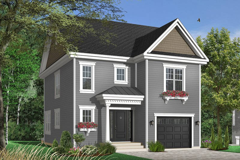 Home Plan - Traditional Exterior - Front Elevation Plan #23-671