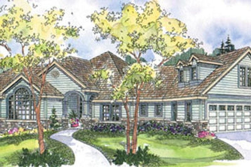 Country Exterior - Front Elevation Plan #124-670