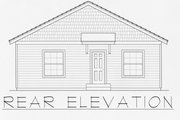 Craftsman Style House Plan - 2 Beds 2 Baths 1200 Sq/Ft Plan #112-159 Exterior - Rear Elevation