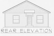 Craftsman Exterior - Rear Elevation Plan #112-159