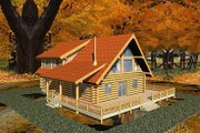 Log Style House Plan - 3 Beds 2 Baths 2328 Sq/Ft Plan #117-118 Exterior - Front Elevation