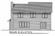 Traditional Style House Plan - 4 Beds 3 Baths 2106 Sq/Ft Plan #70-303 Exterior - Rear Elevation