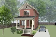 Traditional Style House Plan - 2 Beds 1.5 Baths 868 Sq/Ft Plan #79-277 Exterior - Front Elevation