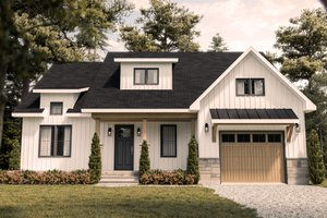 House Plan Design - Farmhouse Exterior - Front Elevation Plan #23-2746