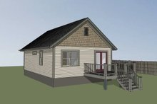 Craftsman Exterior - Rear Elevation Plan #79-101