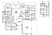 European Style House Plan - 4 Beds 4.5 Baths 3793 Sq/Ft Plan #419-163 Floor Plan - Main Floor Plan