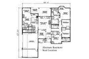 European Style House Plan - 4 Beds 3 Baths 2405 Sq/Ft Plan #17-2060 Floor Plan - Other Floor Plan