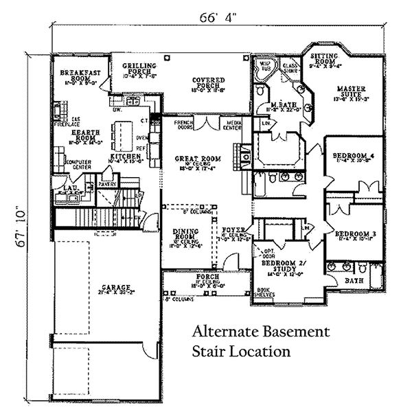 European Floor Plan - Other Floor Plan Plan #17-2060