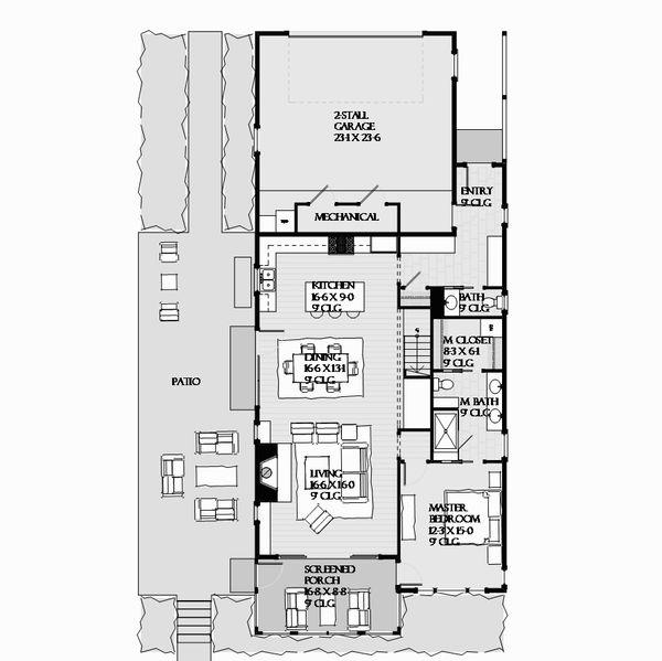 Beach Floor Plan - Main Floor Plan #901-130