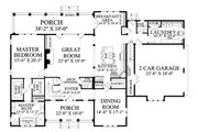 Country Style House Plan - 4 Beds 4.5 Baths 4256 Sq/Ft Plan #137-280 Floor Plan - Main Floor Plan