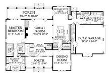Country Floor Plan - Main Floor Plan Plan #137-280