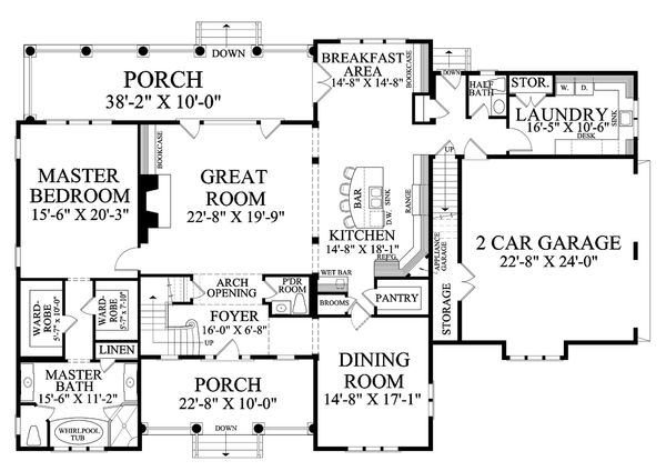 Country Floor Plan - Main Floor Plan Plan #137-280