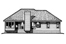 Home Plan - Traditional Exterior - Rear Elevation Plan #20-144