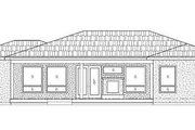 Adobe / Southwestern Style House Plan - 3 Beds 2.5 Baths 2132 Sq/Ft Plan #24-283 Exterior - Rear Elevation