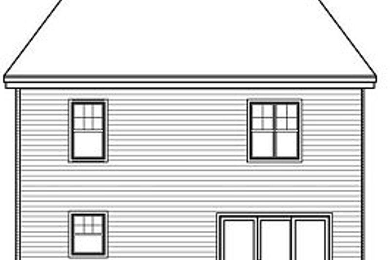 Traditional Exterior - Rear Elevation Plan #23-734 - Houseplans.com