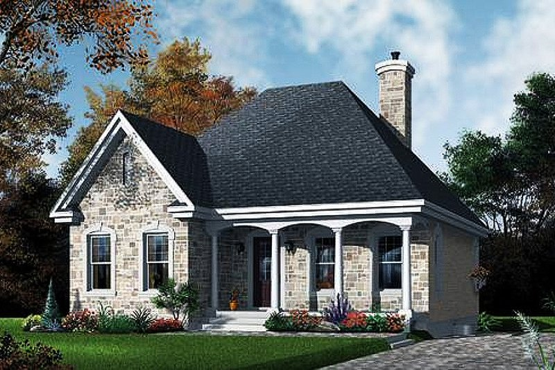 Traditional Exterior - Front Elevation Plan #23-474