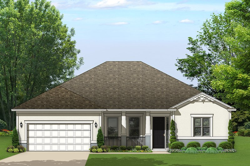 Ranch Exterior - Front Elevation Plan #1058-160