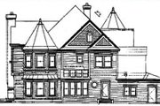 Victorian Style House Plan - 4 Beds 5 Baths 4161 Sq/Ft Plan #320-295 Exterior - Rear Elevation