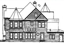 Victorian Exterior - Rear Elevation Plan #320-295