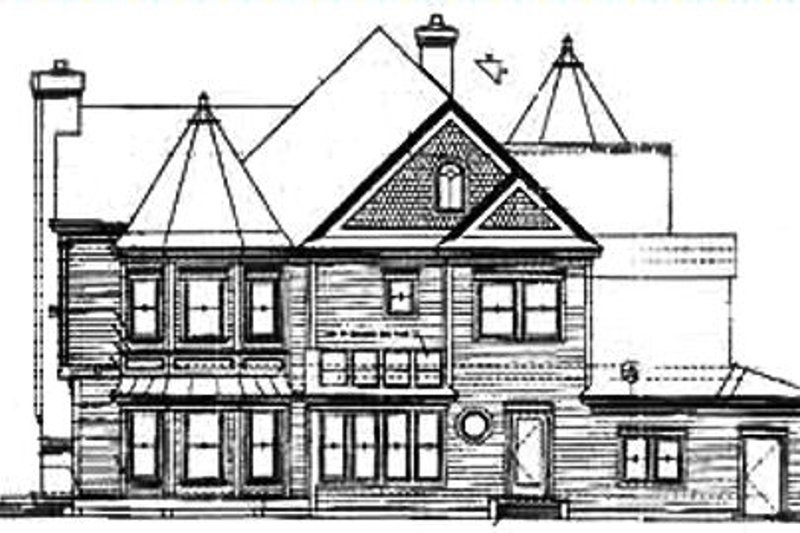 Victorian Exterior - Rear Elevation Plan #320-295 - Houseplans.com