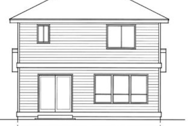 Traditional Exterior - Rear Elevation Plan #94-203 - Houseplans.com