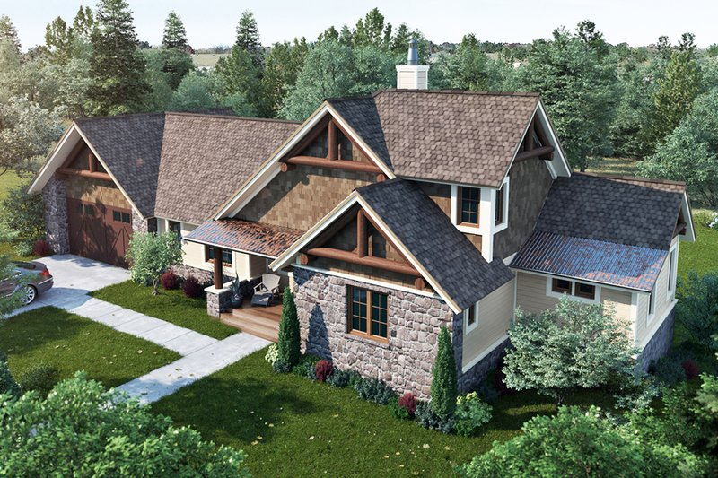 Cottage Style House Plan - 3 Beds 3 Baths 1689 Sq/Ft Plan #942-39 Exterior - Front Elevation