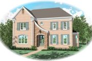 European Style House Plan - 4 Beds 3 Baths 3249 Sq/Ft Plan #81-1257 Exterior - Front Elevation