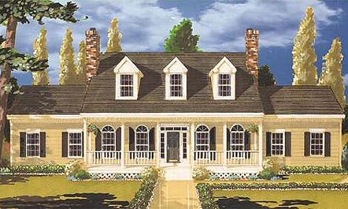 Southern Style House Plan - 4 Beds 2.5 Baths 2454 Sq/Ft Plan #3-207 Exterior - Front Elevation