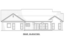 Country designed Farm style house, rear elevation