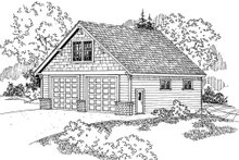 Dream House Plan - Craftsman Exterior - Front Elevation Plan #124-797