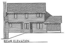 Traditional Exterior - Rear Elevation Plan #70-245