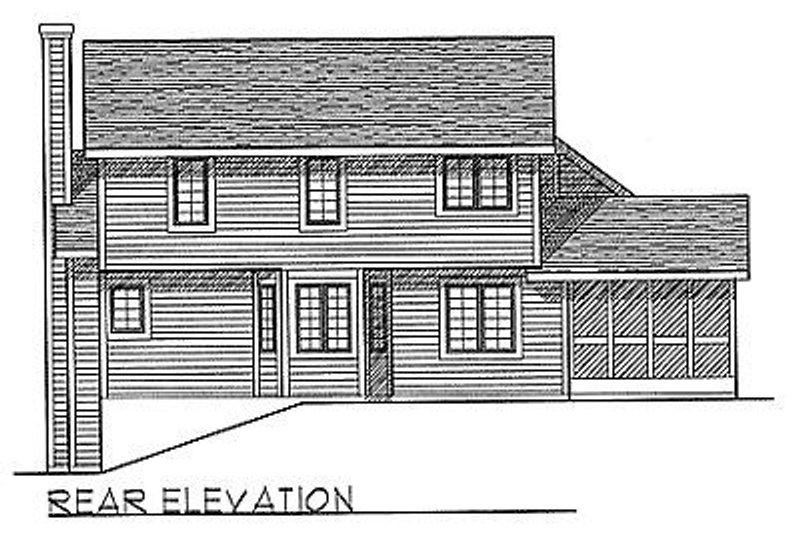 Traditional Exterior - Rear Elevation Plan #70-245 - Houseplans.com
